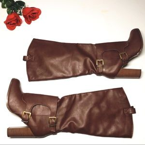 Charlotte Russe chunky block heel boots